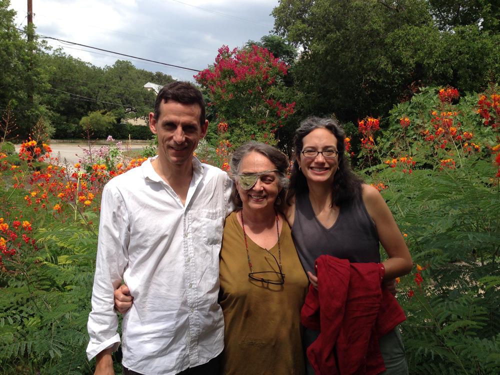 Doyle and Carmelita with Aggie on Huisache